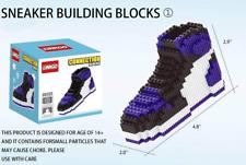 Brand New Court Purple Air Jordan 1 Sneakers Lego Building Blocks Bricks