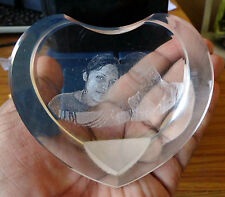 Heart Shaped Personalized 3D Crystal Cube High End Laser Engraved Your Own Image