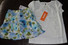 Gymboree Malibu Cowgirl floral skirt skort & white eyelet top NWT 4 4T
