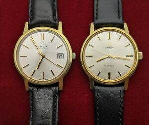 OMEGA AUTOMATIC CAL 1010 AND OMEGA GENEVE CAL 601 BOTH WORKING GOLD PLATED
