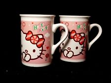 Two (2) Hello Kitty Mugs Cups Girls Childs 2011 Sanrio Co Toys by MTL Excellent