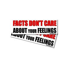 Anti Hillary Snowflake Facts Dont Care about Your Feelings Sticker Decal 2 Pack