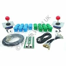 2 Player Arcade Joysticks Buttons & I-PAC2 Wiring Kit No9
