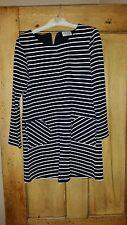 Brand New Black & White Stripy Dress - AGE 8