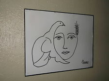 Picasso Dove - Ink Drawing - Replica 14X11