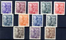 Sellos de España 1939 nº 867/878 General Franco sellos nuevos ref . 02