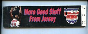 1993/1994 New York Nets NBA Basketball Full Season Ticket Book (-1) NRMT