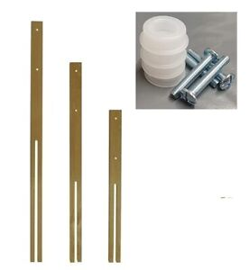 1 Pair headboard struts legs QUALITY WOOD legs drilled & slotted MULTI FIX 24""