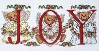 Candamar Designs Counted Cross Stitch Kit Joy Bears 50825 Picture Angels NWT