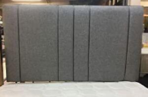 "Brand New Gladiator Bed Headboard in Linen/Turin Fabric 20'' & 26"" Height"