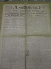 LA GAZZETTA DELLO SPORT 10 GIUGNO 1924 RECORD ASCARI 200 ALL'ORA A CREMONA