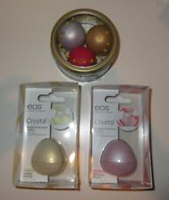 *Lot/5* EOS Lip Balms ~ Holiday Set of 3 and 2 Clear Crystal ~ Chai, Pomegranate