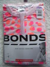 BNIP Baby Girl's Bonds Pink & Orange Zip Wondersuit/Coverall/Sleeper Size 0