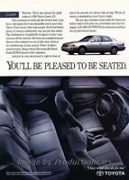 Classic Car Advertisement Print Ad J73 1993 Toyota Corolla 4-door