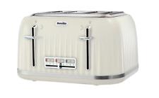 Breville Impressions Vintage Retro 4 Slot Slice Kitchen Appliance, Cream Toaster