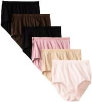 Hanes Womens Panties 6 Pack Cotton Brief Neutrals- Select SZ/Color.