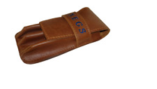 More details for fountain pen case calligraphy 3 writing pens personalised leather pen pouch uk