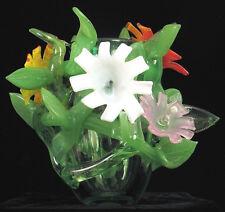 DAVID VAN NOPPEN MASTERPIECE 1995 SIGNED ART GLASS SCULPTURE FLOWER VASE !!!