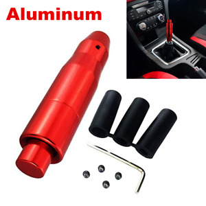 Red Universal Automatic AT Car Gear Stick Shift Knob Shifter Lever Cover Button