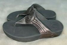 FITFLOP Womens' Silverthorne Thong Pewter Sandals Size 7