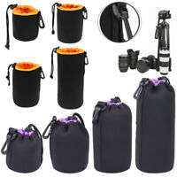 S-XL Waterproof Lens Pouch Bag Drawstring Protective Case for Digital SLR Camera