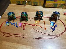 New Listing1991 Teenage Mutant Ninja Turtles Talking Turtles Complete Set with Strips!