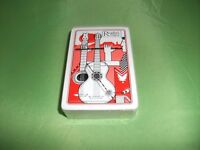 BRAND NEW AND SEALED READERS DIGEST PACK OF CARDS WITH GUITARS ON BRIDGE ON REAR