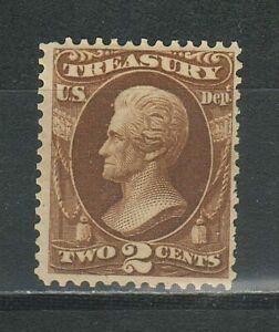 United States 1873 2 cents ☀ President Jackson 2c - Treasury ☀ MLH
