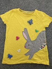 Mini boden Rabbit T Shirt Yellow Age 5-6 Easter