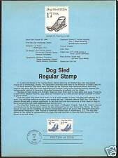 # 2135 DOG SLED 1986 Official Souvenir Page