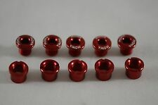 [U.Z BIKE]  MOWA CRANK CHAINRING BOLTS Set / 5 PAIR / 7075 -- Red