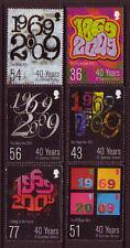 GUERNESEY 2009 40 ANS TIMBRES ENSEMBLE DE 6 NON MONTÉS EXCELLENT ÉTAT, MNH