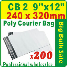 """200 x CB2 240X320mm(9''X12"""") Courier Bag Poly Mailer Bag Satchel Free Postage"""