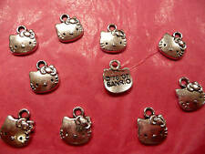 Tibetan Silver Kitty/Cat Charms 10 per pack