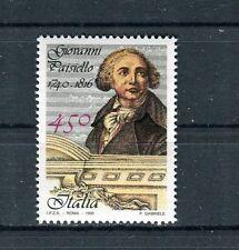Italia 1990 250° anniversario nascita musicista Giovanni Paisiello MNH