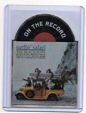 2013 Panini THE BEACH BOYS On The Record Die-Cut Album Insert Card SURFIN SAFARI