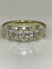 3.00 Ct Oval Cut Diamond Wedding Eternity Band 14K White Gold Ring Size M N