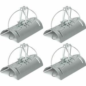 4 x Racan Tunnel Mole Trap Fast Action Humane Kill Double Entry Professional Use