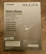 Toshiba REGZA LCD TV Owner's Instruction Manual 32RV530U 37RV530U 42RV530U