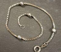 Hübsches 835 Silber Armband Ewo Eugen Woll ? Venezianer Kugeln Zart Viereckig