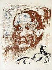 Salvador Dali 1904 / Portrait Sigmund Freud / Lithographie, handsigniert