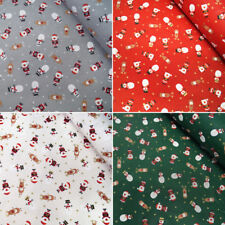 100% Cotton Fabric Lifestyle Christmas Characters Tumbling in Stars 140cm Wide