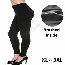 Women Winter Warm Fleece Lined Full Length Legging Pants Plus Size XL 2XL 3XL