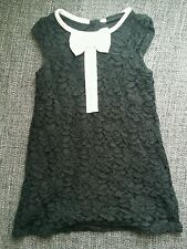 NEXT 12-18 mois fille noir formelle robe Summer Winter bonneterie