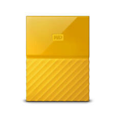 WD My Passport 1TB Yellow Manufacturer Refurbished Portable Hard Drive by Wes...