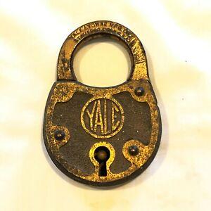 Vintage YALE & TOWNE MFG CO. CONN USA Padlock - No Key - Antique