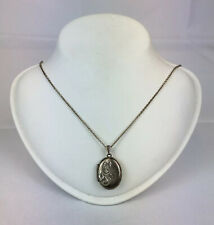 Vintage Sterling Silver 2 Photo Locket On Sterling Silver Chain 7.6g