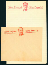 J580 SPAIN CIVIL WAR. SET OF 2 FRANCO ILUSTRATED COVERS.