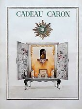 """vintage 1951 print ad CARON PERFUME large 10"""" X 14"""" France MID CENTURY ART"""