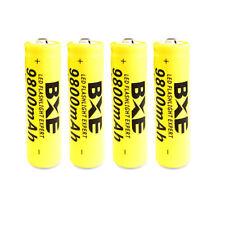 4pcs BXE 3.7V 18650 9800mAh Li-ion Rechargeable Battery Batteries For Flashlight